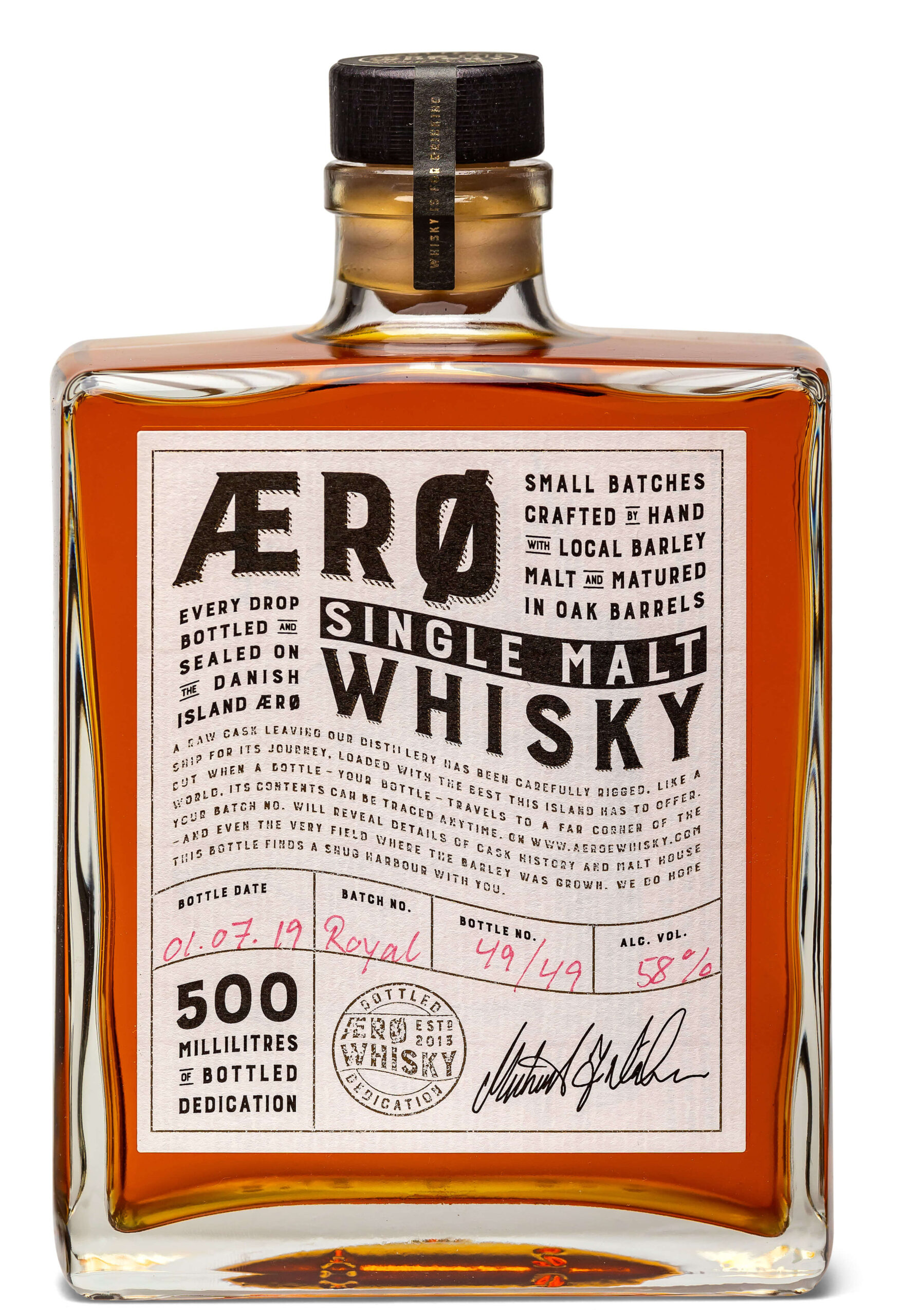 aeroe whisky royal oak